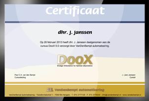 Cursus DooX beschikbaar, inclusief certificaat